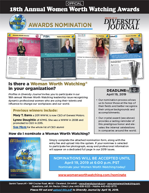 Women Worth Watching - Awards Nomination Form