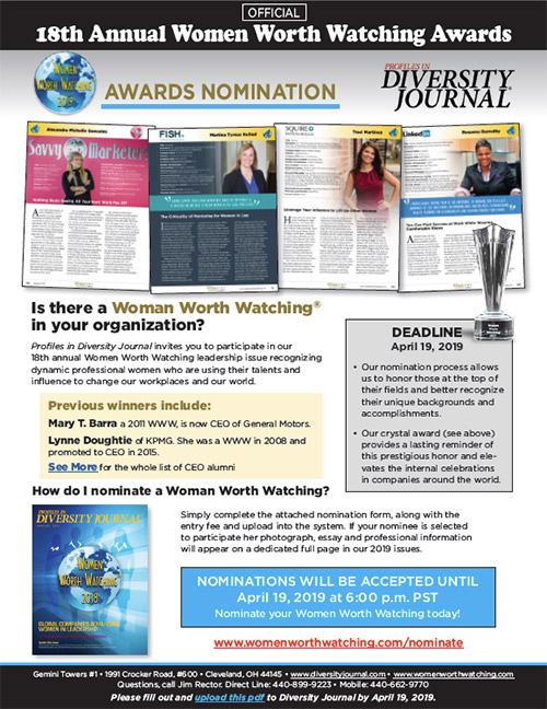 Women Worth Watching - Awards Nomination Form