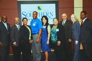 Members of BASF's University Recruitment team and leaders from Southern University—one of BASF's core schools for recruiting diverse talent