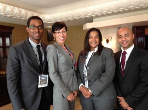 FordHarrison Associate Brian Cunningham, Associate Aisha Sanchez, Partner Vista Lyons and Associate Luis Santos attending the 2013 National Employment Law Council (NELC ) conference.