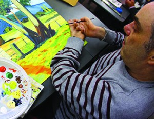 "Artist Juan Carlos Moreno believes painting is the ideal way to express himself. ""Through my artistic activities,"" he says, ""I have learned patience and to never give up. I've also learned to appreciate the essence of life and the daily effort."""