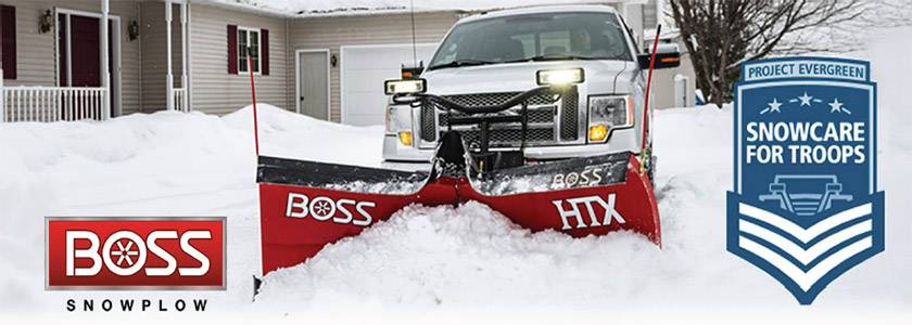 BOSS Snowplow Project Evergreen Snowcare for Troops